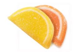 Schijfje agar citroen-appelsien